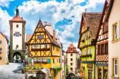 Historic town of Rothenburg ob der Tauber, Franconia, Bavaria, Germany — Stock Photo