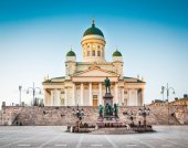 Famous Helsinki Cathedral in evening light, Helsinki, Finland — Foto Stock