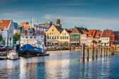Town of Husum, Nordfriesland, Schleswig-Holstein, Germany — Stock Photo