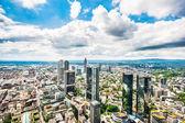 Panoramic view of Frankfurt am Main, Germany — Stock Photo