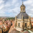 Aerial view of the historic city of Salamanca from the Top of Iglesia de la Clerecia at sunrise, Castilla y Leon region, Spain — Stock Photo #78679564