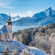 Beautiful winter landscape in the Bavarian Alps, Germany — Stock Photo #78694588
