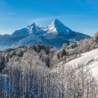 Beautiful winter landscape in the Bavarian Alps, Germany — Stock Photo #78694594