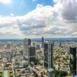 Frankfurt am Main skyline panorama with dramatic cloudscape, Hessen, Germany — Stock Photo #79028638