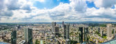 Frankfurt am Main skyline with dramatic cloudscape, Hessen, Germany — Fotografia Stock