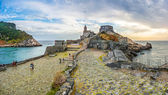 Seascape with Church of St Peter in Porto Venere, Italy — Stock Photo