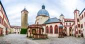 Historic courtyard of famous fortress Marienberg in Wurzburg, Bavaria, Germany — Stock Photo