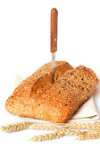 Bread with linen seeds and sesame. — Stock Photo