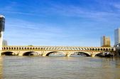 Railway bridge over the Seine in Paris — Stock Photo