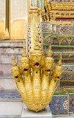 Temple Statue Hand Dragon — Стоковое фото