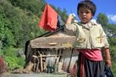 Not very friendly little girl. Ghandruk-Nepal. 0594 — Stock Photo