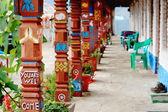 Wooden arcade in Landruk-Nepal. 0585 — Stock Photo