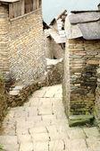 Steep street between stone walls. Ghandruk-Nepal. 0625 — Stock Photo