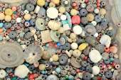 Beads for necklaces and other miscellaneous items. Pokhara-Nepal. 0682 — Stock Photo