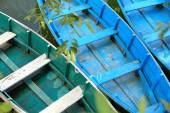 Wooden boats on lake Phewa. Pokhara-Nepal. 0707 — Stock Photo