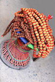 Rudraksha seed necklace. Pokhara-Nepal. 0744 — Stock Photo