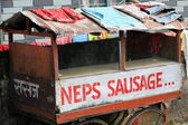 Neps sausage. Pokhara-Nepal. 0743 — Stock Photo