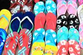 Rubber and plastic flip flops. Pokhara-Nepal. 0752 — Stock Photo