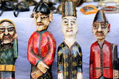 Traditional wooden figurines. Pokhara-Nepal. 0755 — Stock Photo