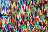 Multicolored fabric necklaces. Pokhara-Nepal. 0754 — Stock Photo