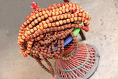 Rudraksha seed necklace. Pokhara-Nepal. 0745 — Stock Photo
