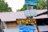 Hotel signpost. Patihani-Nepal. 0804 — Stock Photo