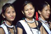 Tharu people girls. Ghatgain-Patihani-Nepal. 0823 — Stock Photo