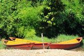 Wooden boats on lake Phewa. Pokhara-Nepal. 0718 — Stock Photo