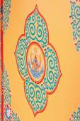 Buddhist wall decoration. Thrangu Tashi Yangtse Monastery-Nepal. 0964 — Stock Photo