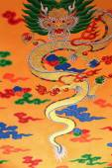Buddhist wall decoration. Thrangu Tashi Yangtse Monastery-Nepal. 0987 — Stock Photo
