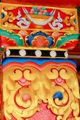 Chapiter decoration. Thrangu Tashi Yangtse monastery-Nepal. 0983 — Stock Photo