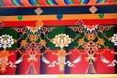 Buddhist wall decoration. Thrangu Tashi Yangtse Monastery-Nepal. 0985 — Stock Photo