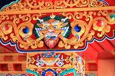 Chapiter decoration. Thrangu Tashi Yangtse monastery-Nepal. 0988 — Stock Photo