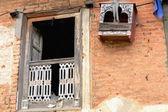 Wooden window-bird cage. Thrangu Tashi Yangtse monastery-Nepal. 1009 — Stock Photo