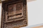 Profusely carved window. Namo Buddha-Nepal. 1027 — Stock Photo