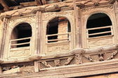 Profusely carved balcony. Namo Buddha-Nepal. 1036 — Stock Photo