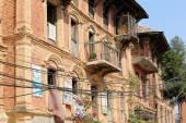 Red brick houses-newar style. Dhulikhel-Nepal. 1057 — Stock Photo