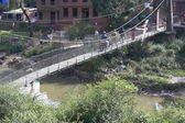 Bridge over Punyamati river. Panauti-Nepal. 1061 — Stock Photo