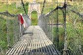 Bridge over Punyamati river. Panauti-Nepal. 1071 — Stock Photo