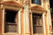 Classical newar style facade. Panauti-Nepal. 1090 — Stock Photo