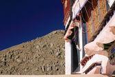 Windows in Drepung monastery. Lhasa-Tibet. 1215 — Стоковое фото