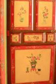 Door in the Takten Mingyur Phodrang-palace. Norbulingka-Lhasa-Tibet. 1264 — Stock Photo