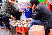 Goh players-street market-Barkhor area. Lhasa-Tibet. 1308 — Stock Photo