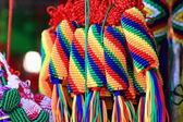 Traditional tibetan braided thread ornaments. Lhasa-Tibet. 1322 — Stock Photo
