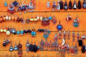 Artisanal earrings. Lhasa-Tibet. 1351 — Stock Photo