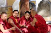Monks debating in the Sera monastery-Tibet. 1282 — Stock Photo