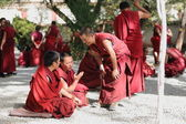 Monks debating in Sera monastery-Tibet. 1284 — Stock Photo