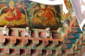Wall frescoes-snow lions. Jokhang temple-Lhasa-Tibet. 1417 — Stock Photo