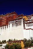 Walls whitewashing-Potala palace. Lhasa-Tibet. 1371 — Stock Photo