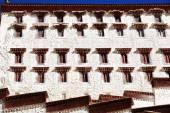 Whitewashed walls-Potala Palace. Lhasa-Tibet. 1380 — Stock Photo